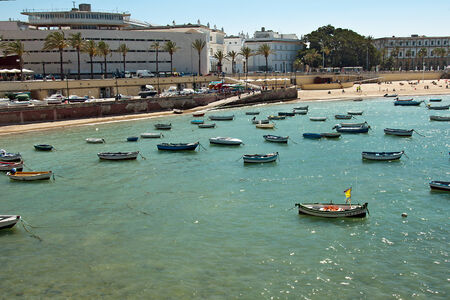 penetrated: La Caleta is a beach located in the historical center of the city of Cádiz, Spain  It is a natural harbor by which Phoenicians, Carthaginians and Romans penetrated historically  It is the smallest beach in the city, and is from the others