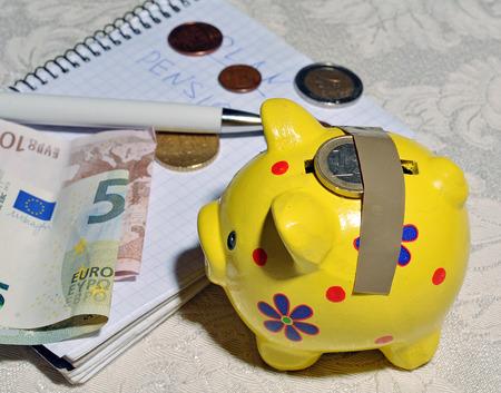 household money: planning household budget Stock Photo