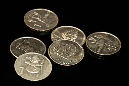 accession: Coin of Latvia before the exchange at the Euro
