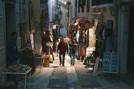Arab street in Granada, Spain