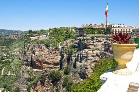 ronda: Panoramic view of Ronda, Andalusia, Spain