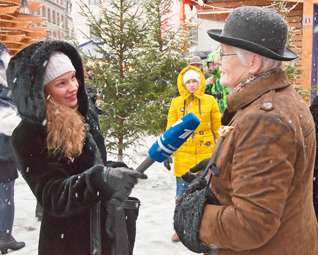interview the characters of books Conan Doyle  in Riga, Latvia, 04/01/2015