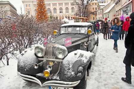 retro car in Riga, Latvia, 04012015