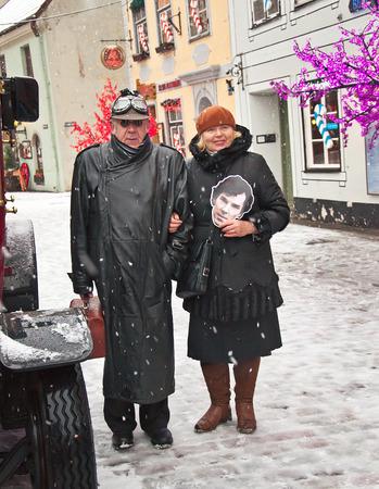 intellectually: book character Conan Doyle in Riga, Latvia, 04012015 Editorial