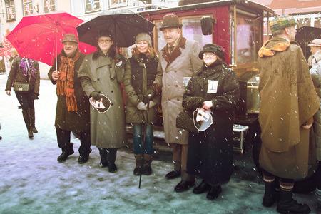 intellectually: RIGA, LATVIA - January 4: Interview the characters of books Conan Doyle