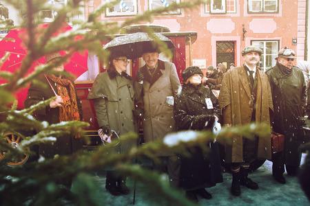 intellectually: RIGA, LATVIA - January 4: photoshoot with heroes of books Conan Doyle