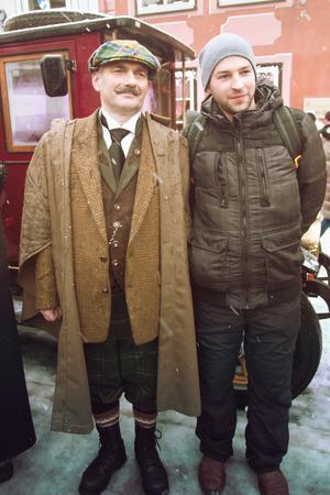 intellectually: RIGA, LATVIA - January 4: Photo Hero of books Conan Doyle Editorial