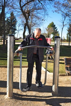 average age: Spanish man has been at the gym in the park