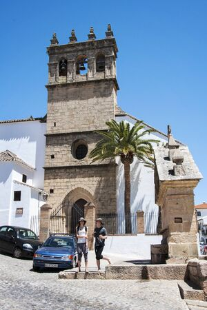 Ronda, Spain - May 6, 2014. Church in the town of Ronda, Spain, Andalucia
