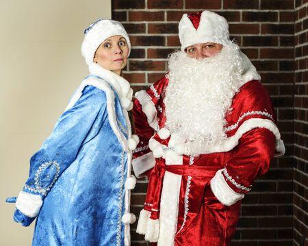 snegurochka: Russian Christmas characters: Ded Moroz (Santa) and Snegurochka (snow girl)