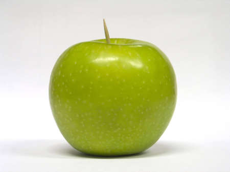 toothpick: an apple and a toothpick