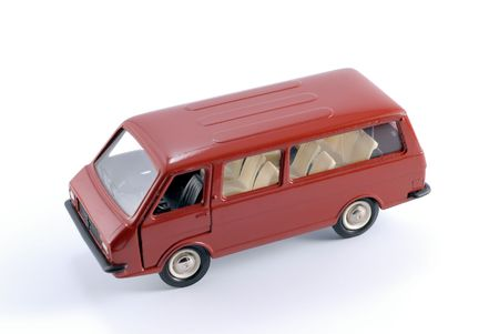 Collection scale model of the minibus. The model is made of metal. For a basis of model the machine issued in the last century in USSR is taken. Stock Photo - 2398076