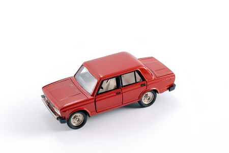 made in russia: Collection scale model of the red car. The model is made of metal. For a basis of model the machine issued in the last century in Russia is taken.
