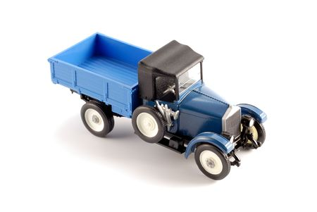Collection scale model of the retro truck. The model is made of metal. For a basis of model the machine issued in the last century in Russia is taken. Stock Photo