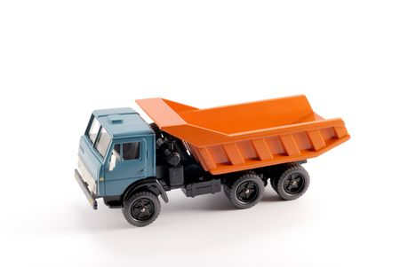 made in russia: Collection scale model of the Dumper truck. The model is made of metal. For a basis of model the machine issued in the last century in Russia is taken. Stock Photo