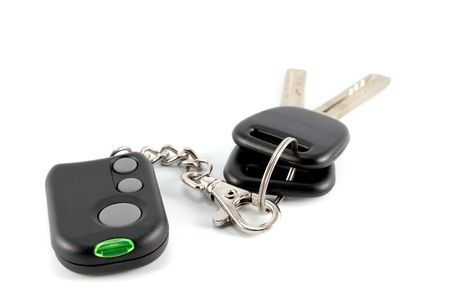 Car keys and charm from car alarm system