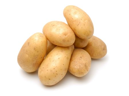Heap of potato isolated on the white background Stock Photo - 3227002