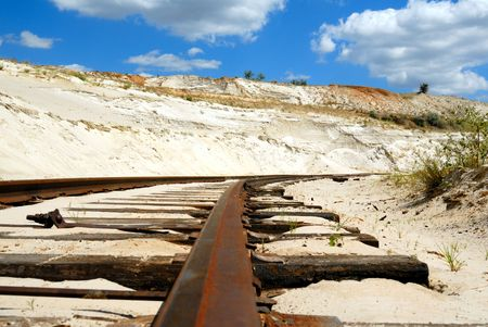 sand quarry: Old branch line in sandy to career