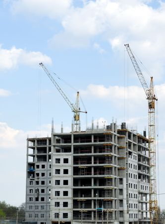 Construction of office building from glass and concrete Stock Photo - 3926008