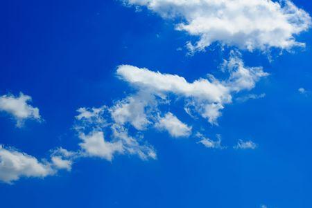 skylight: White clouds against the beautiful dark blue sky.