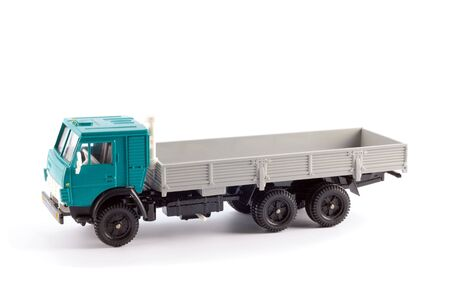 Collection scale model of the truck on a light background Stock Photo - 5156180