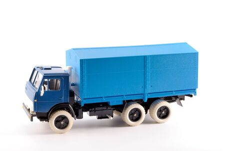 Collection scale model of the truck on a light background