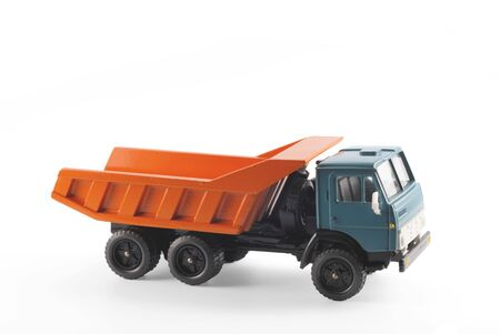 Collection scale model of the truck on a light background Stock Photo - 5190849