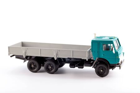 Collection scale model of the truck on a light background Stock Photo - 5269871