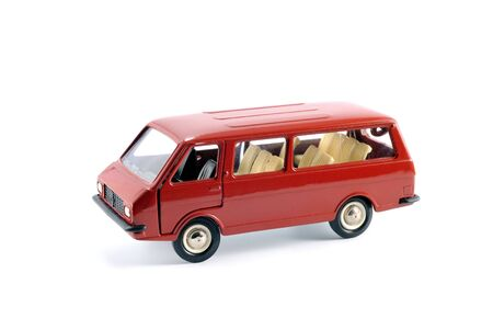 Collection scale model of the car Minibus on a light background Stock Photo - 5269857