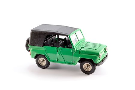 Collection scale model the Off-road car on a light background Stock Photo - 5269840
