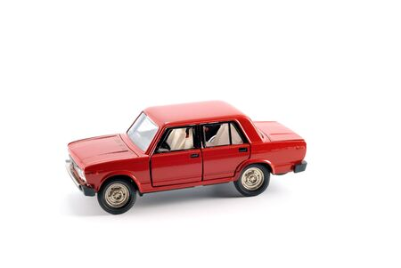 Collection scale model of the red car on a light background Stock Photo - 5269870