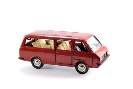 Collection scale model of the car Minibus on a light background Stock Photo - 5371682