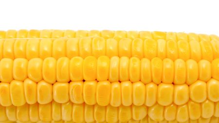 Fresh corn isolated on a white background Stock Photo