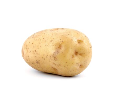 A baking potato, shot from the side. photo