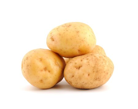 Heap of potato isolated on the white background photo
