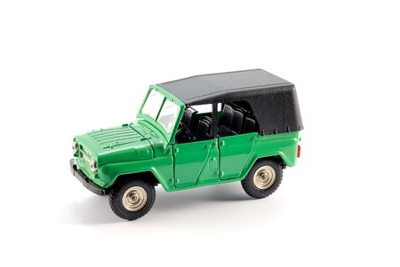 Collection scale model the Off-road car on a light background Stock Photo - 5491607