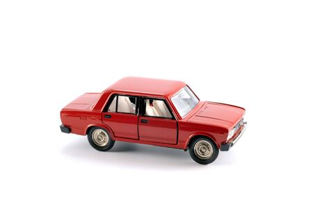 Collection scale model of the red car on a light background Stock Photo - 5515635