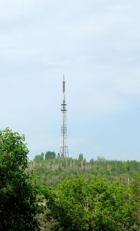 A radio, TV and cell phone communications tower Stock Photo - 6369057