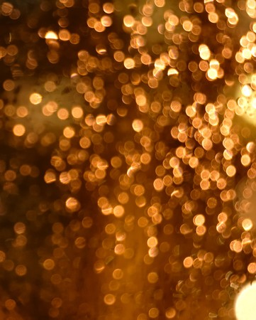 blurred Christmas lights at night. photo