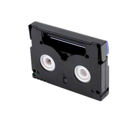 videocassette: Videocassette standard miniDV isolated on a white background Stock Photo