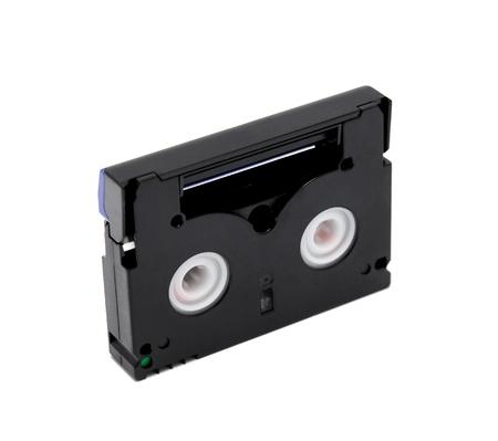 videocassette: Cinta miniDV est�ndar aislado en un fondo blanco Foto de archivo