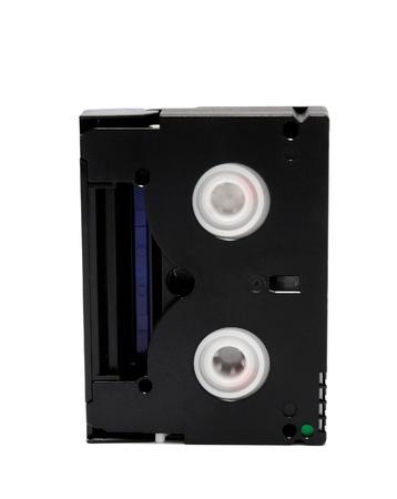 videokassette: Standard miniDV Videocassette auf einem wei�en Hintergrund