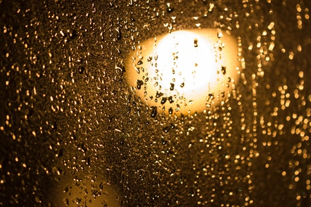 The water drops on the glass out of focus, Texture Stock Photo - 13565141