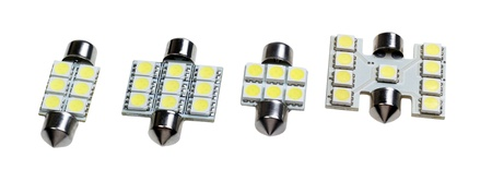Led lamp for auto isolated on the white background