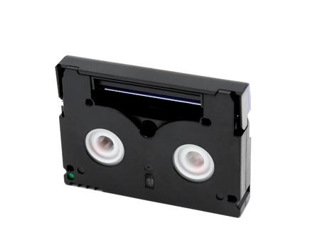 videokassette: Videocassette Standard miniDV auf einem wei�en Hintergrund