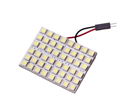 lightbar: Lighting led panel with 48 LEDs to replace the bulb in car salon on white background