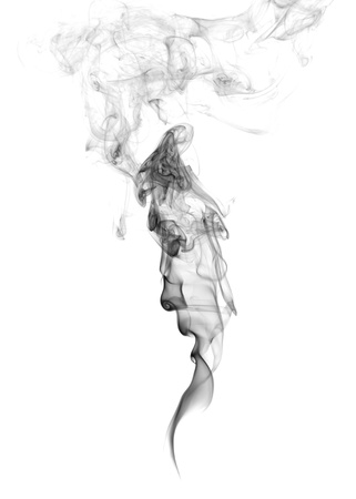 Abstract Smoke isolated on a white background