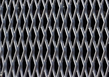 Backgrounds collection - Texture the gray steel grating Stock Photo