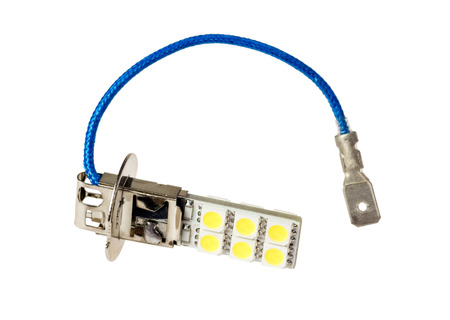 Led lamp for auto isolated on the white background photo