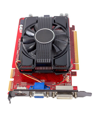 Computer videocard isolated on the white background photo